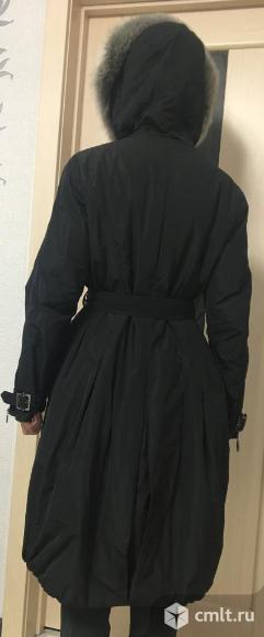 Пальто трансформер с капюшоном и поясом.. Фото 3.