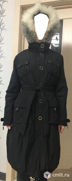 Пальто трансформер с капюшоном и поясом.. Фото 1.