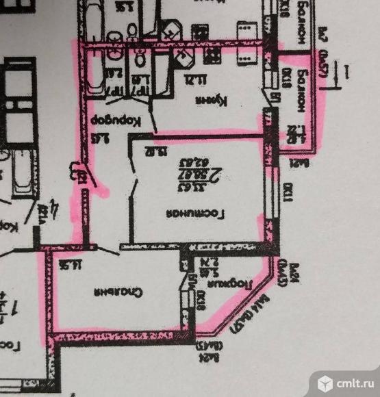 2-комнатная квартира 63 кв.м. Фото 1.