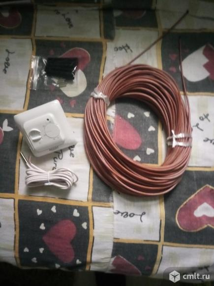 Карбоновый кабель теплого пола 50 метров+термостат. Фото 1.