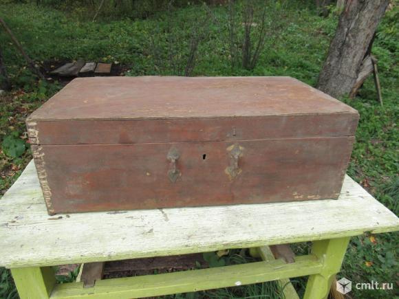 Деревянные чемоданы советские. Самодельные.. Фото 1.