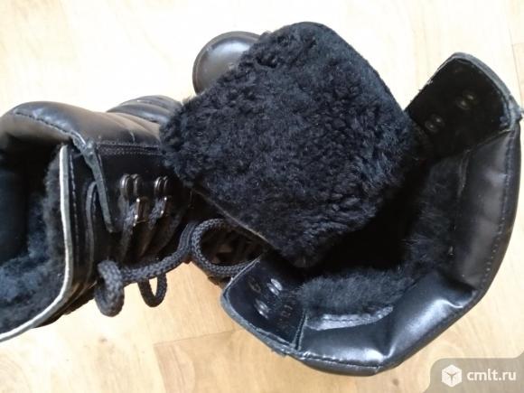 Продам кожаные зимние сапоги на нат.меху. Фото 4.