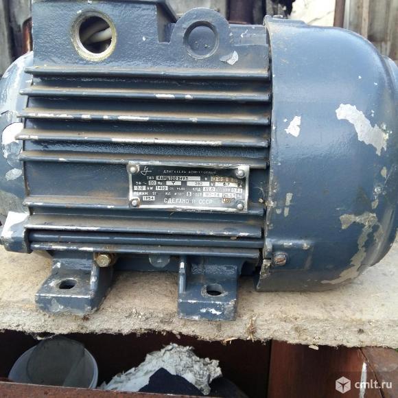 Двигатель асинхронный. Фото 1.