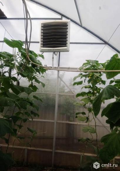 Экономичное отопление теплиц тепловентиляторами на горячей воде VOLCANO. Фото 2.