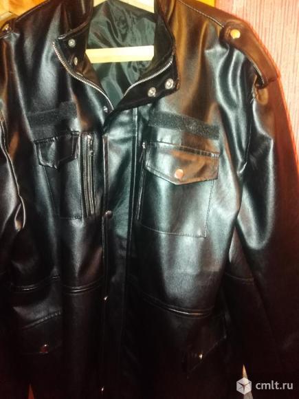 Куртка из кожзаменителя. Фото 1.