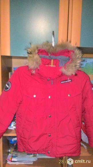 Куртка зимняя на мальчика, рост 140 см, 9-10 лет. Фото 1.