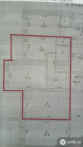 2-комнатная квартира 58 кв.м. Фото 10.