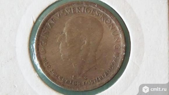 Швеция 1 крона серебро. Фото 2.