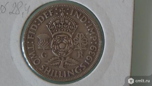 2 шиллинга (флорин) Великобритания 1939г.. Фото 2.