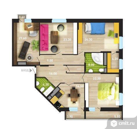 4-комнатная квартира 150 кв.м. Фото 4.