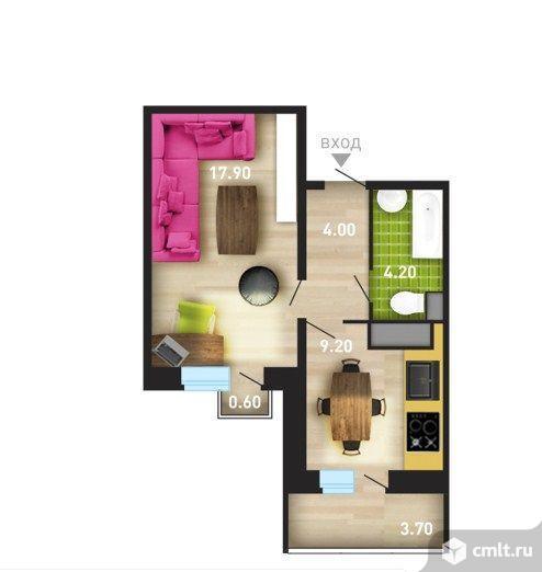 1-комнатная квартира 37 кв.м. Фото 4.