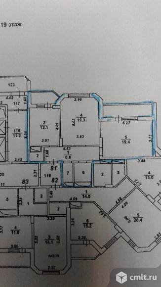 2-комнатная квартира 72 кв.м. Фото 7.