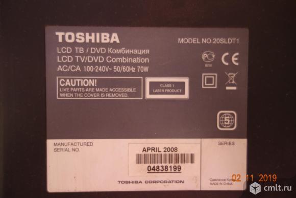 Телевизор ж/к Toshiba 20SLDT1. Фото 2.