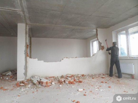 Уборка территории строительной площадки. Демонтаж стен, перегородок. Услуги разнорабочих.. Фото 7.
