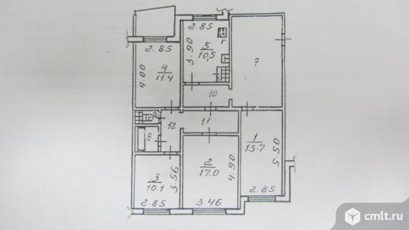 4-комнатная квартира 101 кв.м. Фото 1.