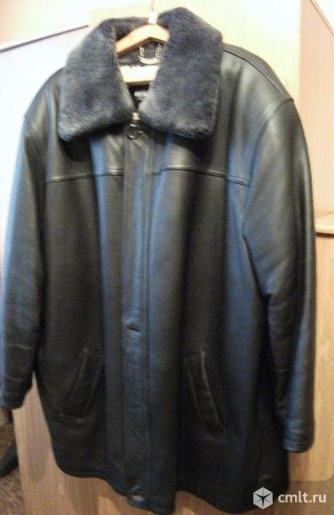 Кожаная куртка зимняя. Фото 1.