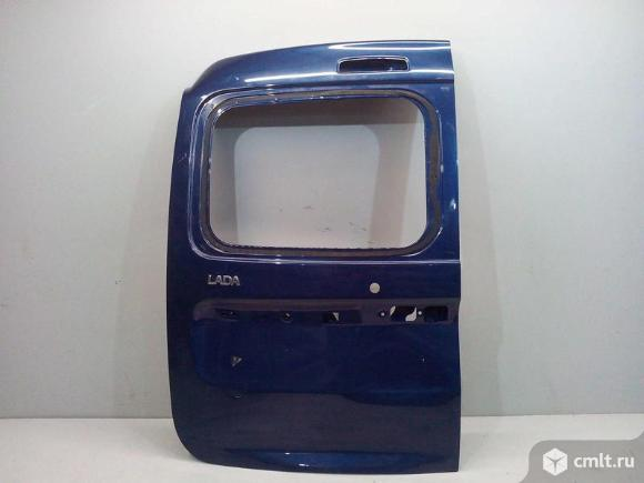 Дверь багажника распашная задняя левая под стекло LADA LARGUS 12- б/у 901015964R 3*. Фото 1.