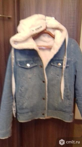 Продаю джинсовую на меху куртку. Фото 1.