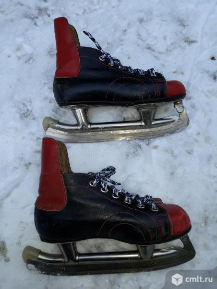 Коньки Советские размер 21 см (32 размер обуви). Фото 1.