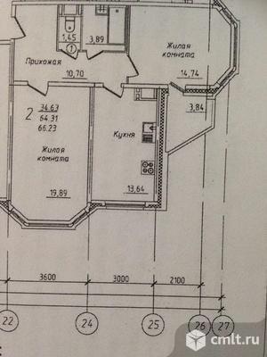 2-комнатная квартира 64 кв.м. Фото 12.