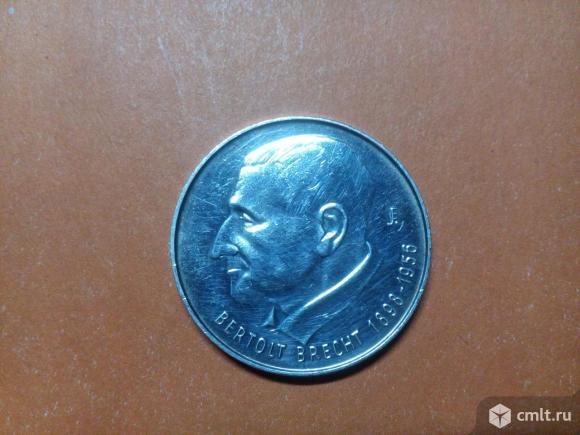 ГДР медаль или жетон Бертольд Брехт. Серебро.. Фото 1.