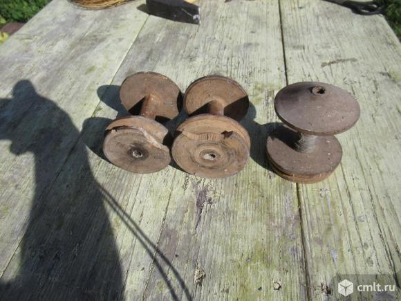 Старинные гребень, прялка, доска, катушки.. Фото 6.