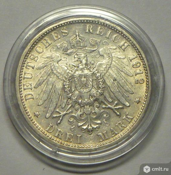 3 марки 1912 г королевства Вюртемберг.. Фото 2.