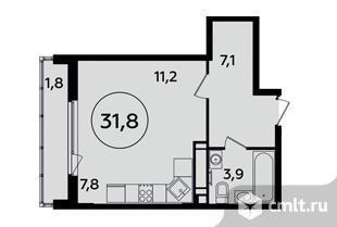 1-комнатная квартира 31,8 кв.м. Фото 1.
