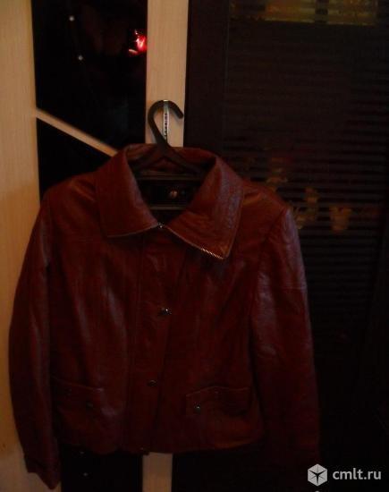 Куртка 52 размер искусственная кожа. Фото 2.