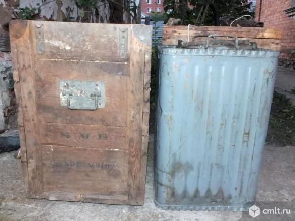 Бак для хранения пороха немецкий латунный. Фото 1.