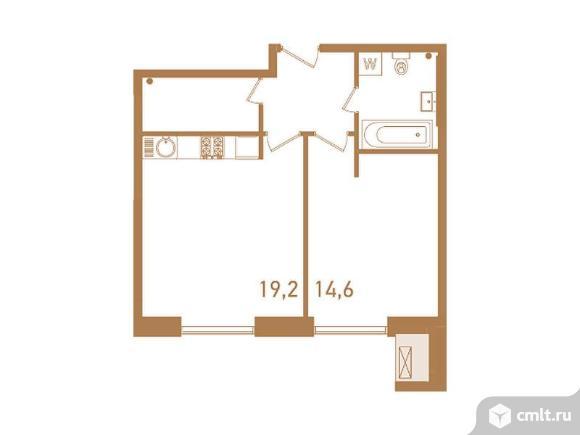 2-комнатная квартира 49,6 кв.м. Фото 1.
