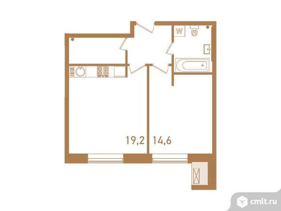 2-комнатная квартира 49,1 кв.м. Фото 1.