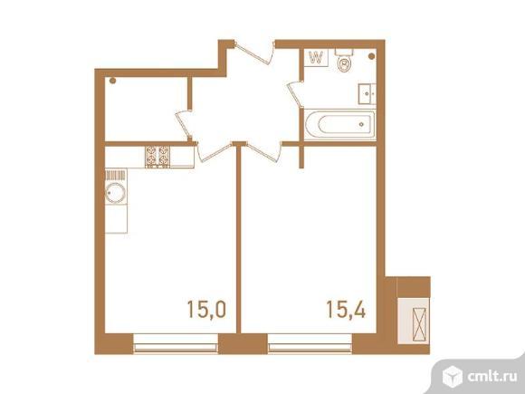 2-комнатная квартира 45,3 кв.м. Фото 1.