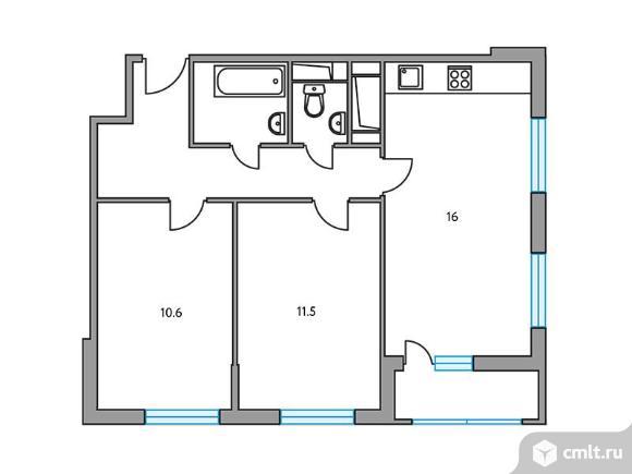 2-комнатная квартира 52,7 кв.м. Фото 1.