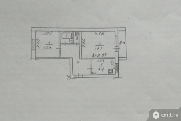 2-комнатная квартира 50 кв.м. Фото 18.