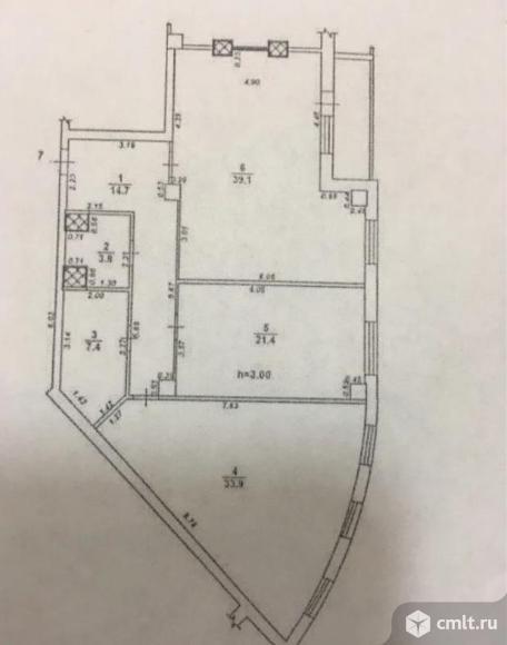 3-комнатная квартира 120 кв.м. Фото 7.