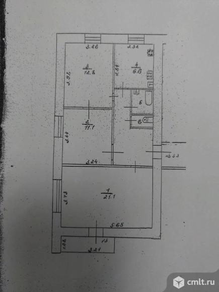 3-комнатная квартира 61,4 кв.м. Фото 9.