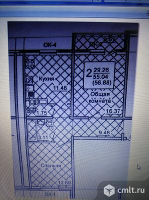 2-комнатная квартира 57 кв.м. Фото 17.
