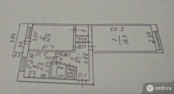 2-комнатная квартира 49,4 кв.м. Фото 17.