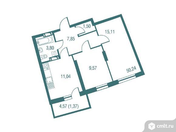2-комнатная квартира 50,24 кв.м. Фото 1.