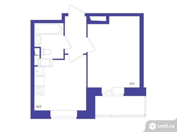 1-комнатная квартира 33,2 кв.м. Фото 1.