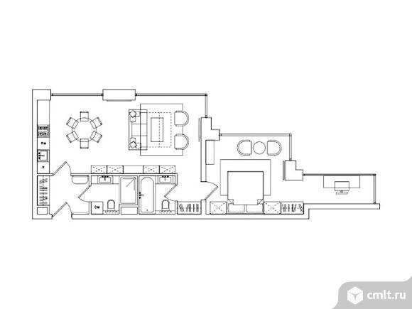 2-комнатная квартира 64,72 кв.м. Фото 1.