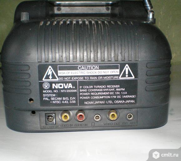 Телевизор кинескопный цв. NOVA NTV-2005MK. Фото 4.
