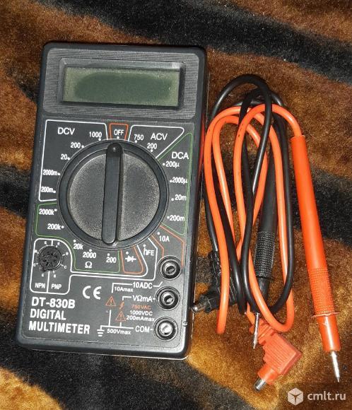 Цифровой минимультимер DT-830B.. Фото 1.