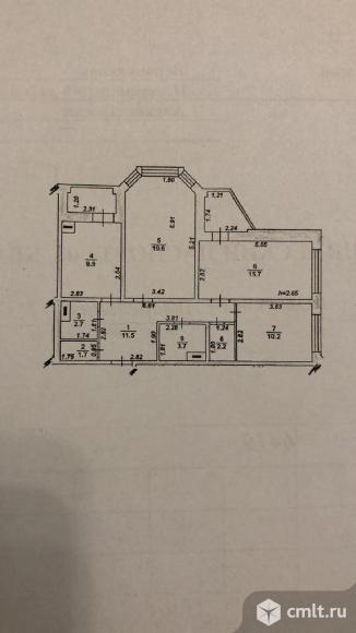 3-комнатная квартира 80 кв.м. Фото 9.