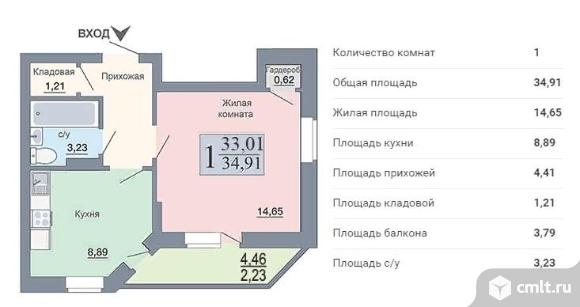 1- комнатная квартира, на берегу водохранилища, по низкой цене!. Фото 1.