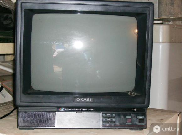 Телевизор кинескопный цв. окари. Фото 2.