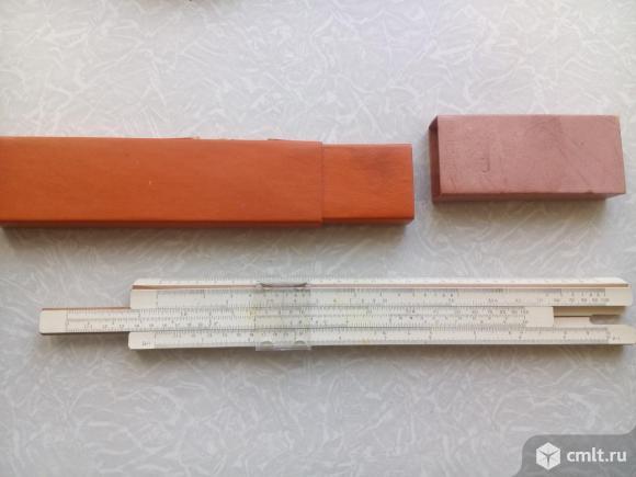 1шт. Линейка логарифмическая (1966г. и 1980г.). Фото 1.