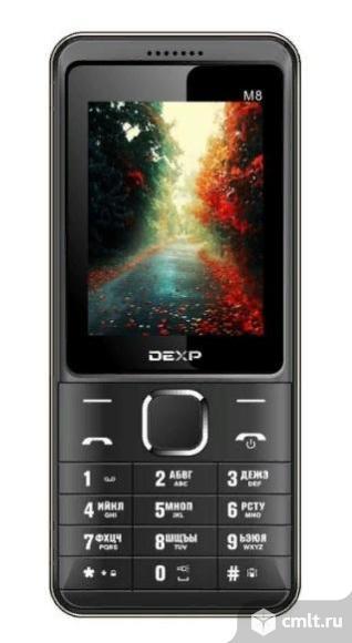 Как новый, гарантия 3000 мА*ч сотовый телефон DEXP Larus M8 золотистый. Фото 1.