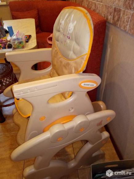 продам стульчик для комления стульчик для кормления leader kids, d-008 (беж+оранж). Фото 1.